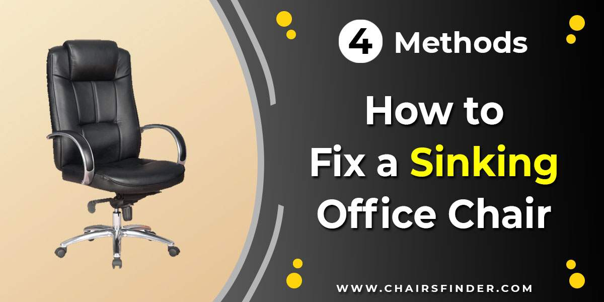 How to Fix a Sinking Office Chair